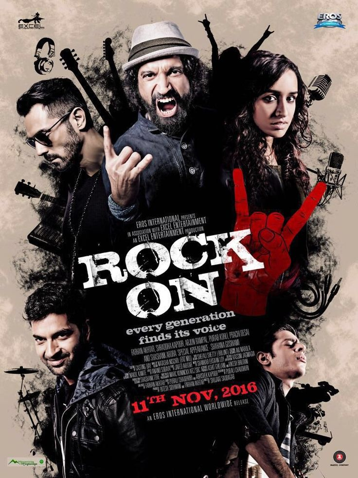 Rock On 2 First Poster Look Out Ft Farhan Akhtar, Arjun Rampal, Purab Kohli & Shashank Arora