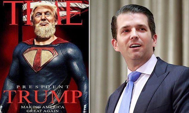 Trump Jr. posts bizarre photo of his father depicted as superhero