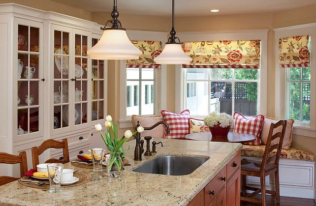 "Country Kitchen. The paint color is ""Devine Honey"". #CountryKitchen #DevineHoney"