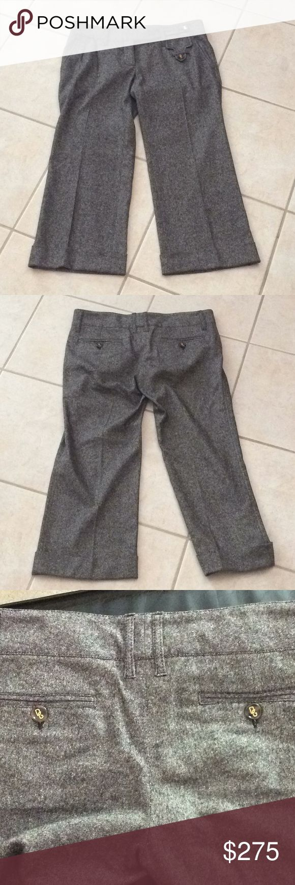 Dolce and Gabbana cropped wool pants Dolce and Gabbana cropped wool pants Dolce & Gabbana Pants Capris