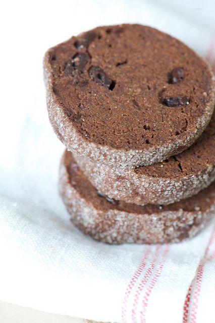 Double chocolate shortbread cookies | Delectable Desserts | Pinterest