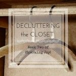 Decluttering the Closet: Week Two of Sparking Joy this is part 2 of a 7 week series on how this couple applied #konmari to their home and the space it opened up for pursuing their dreams.