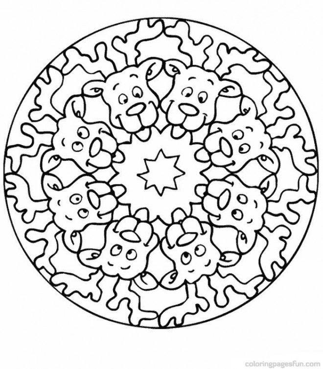 Coloriage Mandala Noel.Coloriage Mandala Renne De Noel Dessin Gratuit Imprimer De