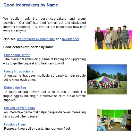 Free Technology for Teachers: Dozens of Icebreaker Activities and Team Building Games