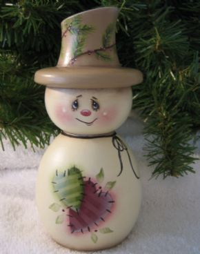 PRIMITIVE PINEAPPLE Kinda Shabby Chic type painting...great on a gourd?!?!