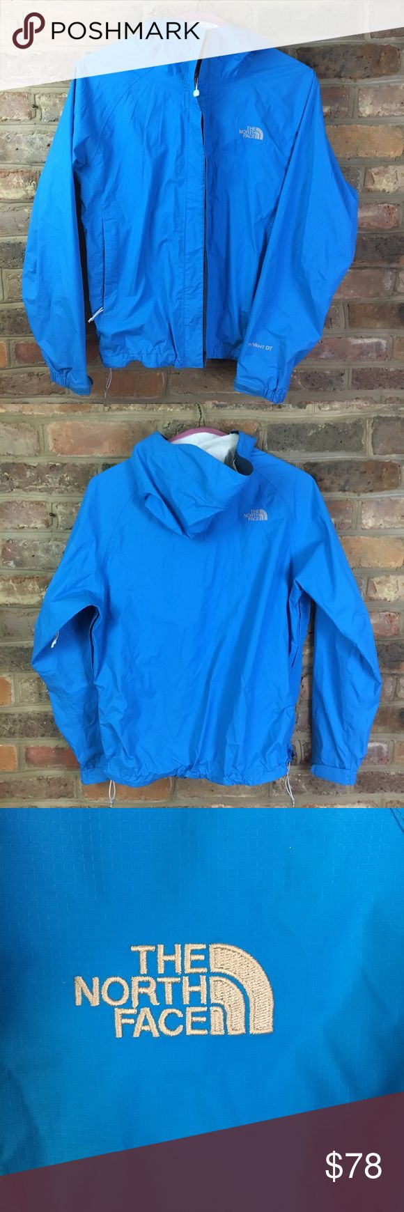 Women's North Face Blue Windbreaker Worn a few times  Perfect condition  No sign of wear that I can see  This blue is gorgeous on anyone! The North Face Jackets & Coats