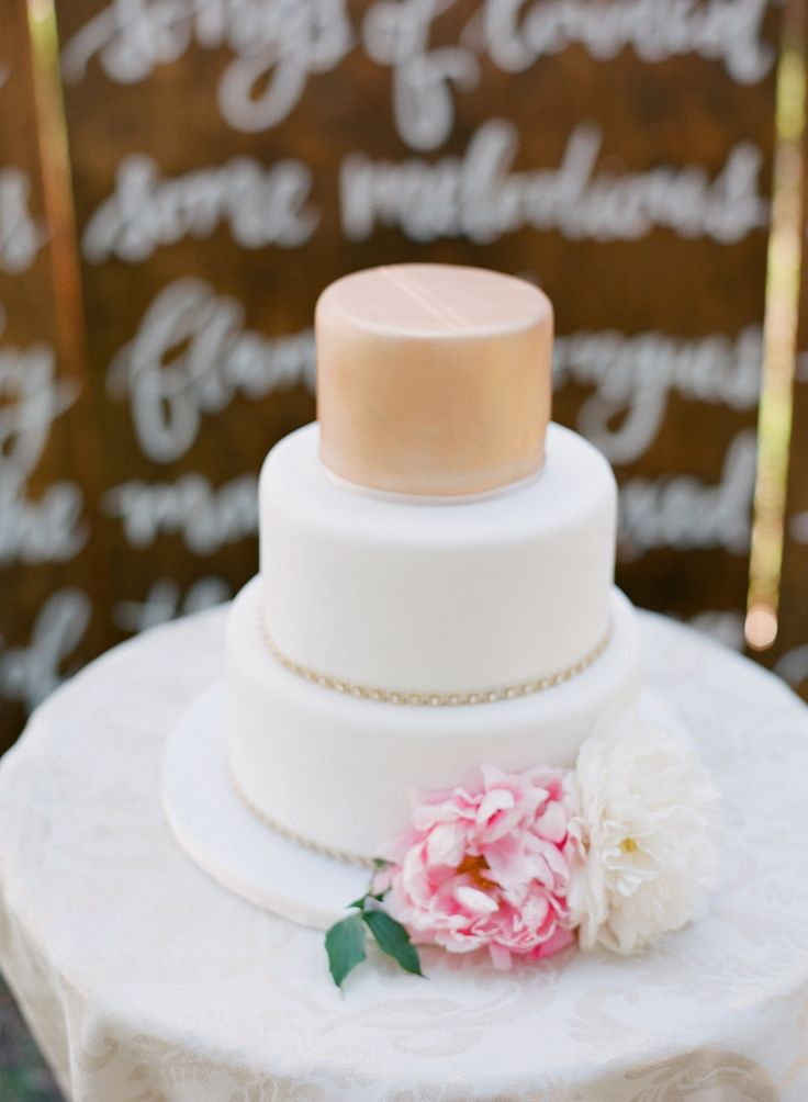white peach and gold wedding cake best 25 wedding cakes ideas on blush 27306