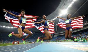Rio 2016 Olympics: USA sweeps 100m hurdles as Elaine Thompson wins 200m – live!
