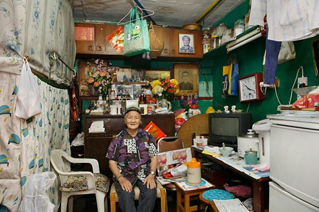Michael Wolf from 100 x 100 (the same, tiny apartment in Hong Kong as 100 different people use the space)