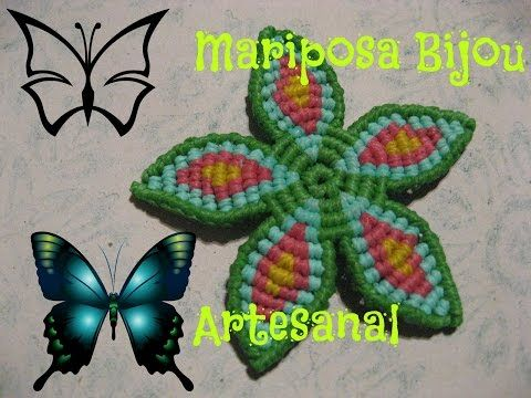 ▶ Tutorial Flor circular macrame - YouTube
