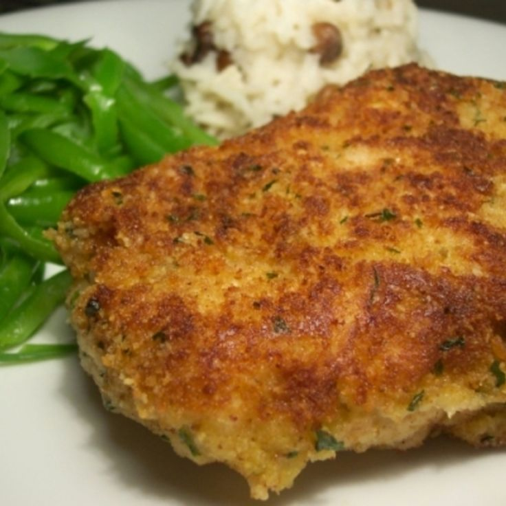 Parmesan Crusted Pork Chops - thinking good idea for an upcoming birthday dinner!