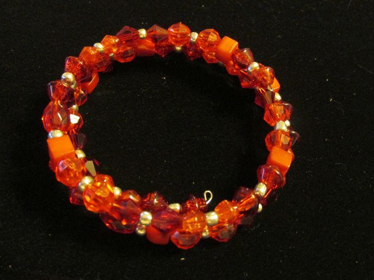red wire wrap bracelet