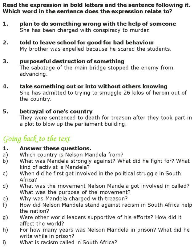 Grade 7 Reading Lesson 14 Biographies Nelson Mandela 3