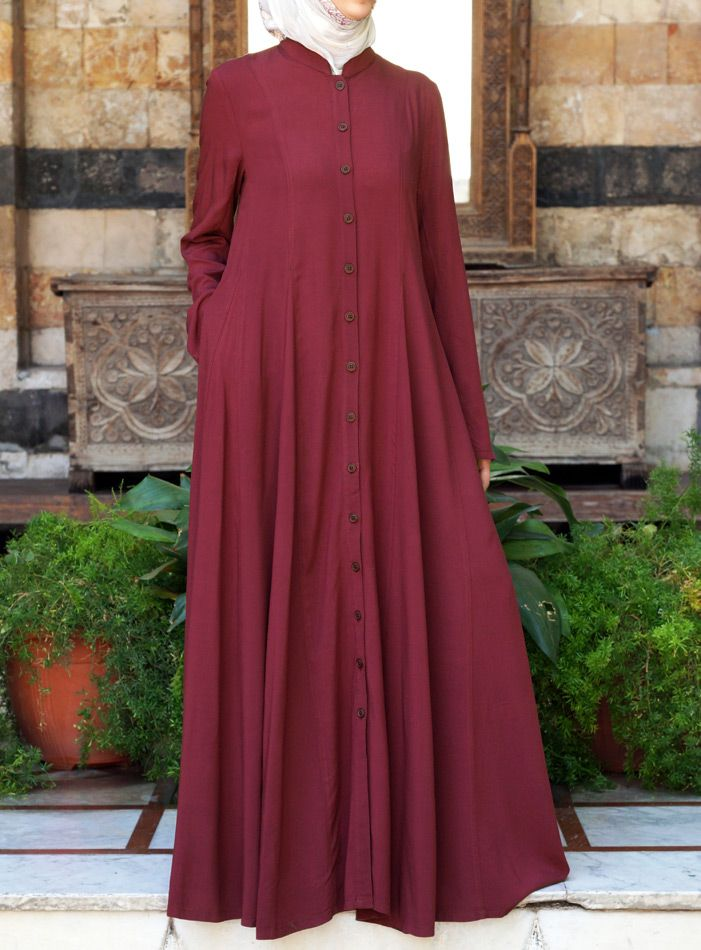 SHUKR USA | Shirt Dress with Godets