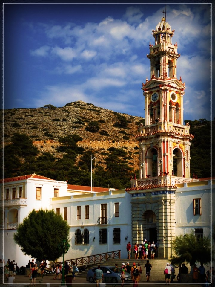 The monastery of Taxiarchis Mihail Panormitis in Symi - Greek