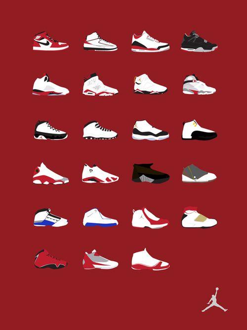 nike air jordan list of shoes