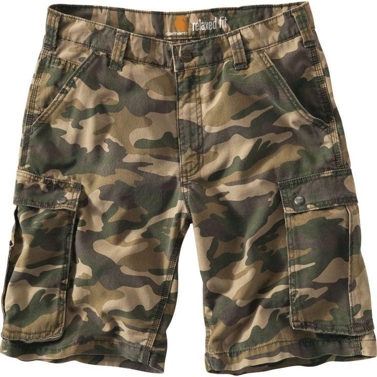 Carhartt Men's Rugged Cargo Camo Work Shorts, Size: 40, Rugged Khaki Camo