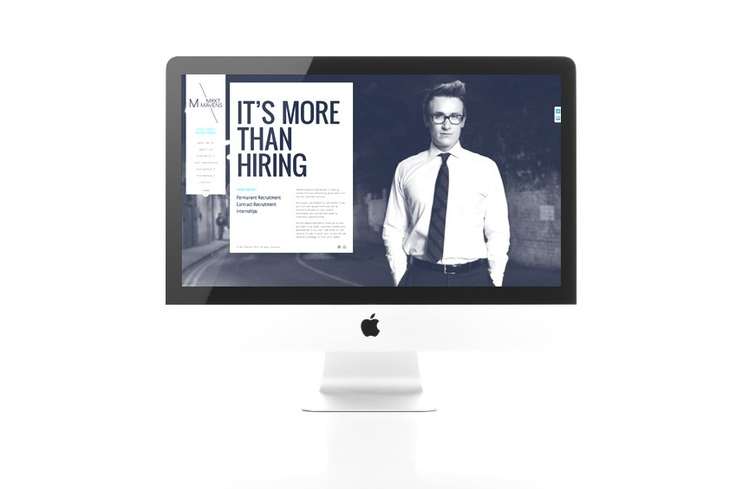CMS website design and build for a high-end recruitment agency (www.mrktmavens.com) by deliveryofthought.com