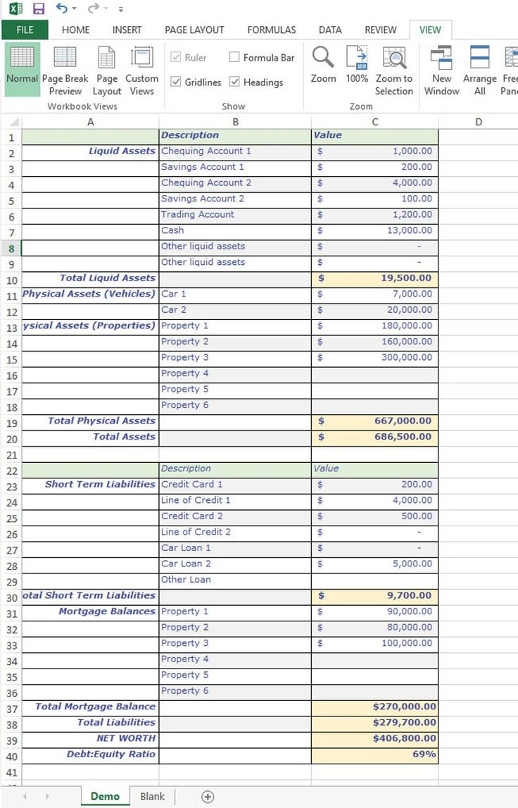 Balance Sheet Assets And Liabilities Excel Spreadsheet For Etsy In 2021 Balance Sheet Excel Spreadsheets Templates Accounting Basics Vertical balance sheet format in excel