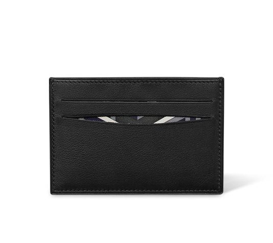 Citizen Twill Hermes card holder in black Swift calfskin with dark grey