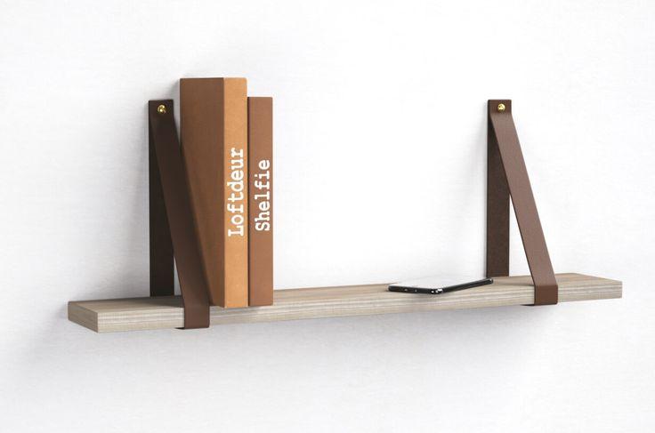 Deze set leren plankdragers valt direct op zonder opzichtig te zijn. De banden zijn van echt leer gemaakt en voorzien van een diepe en warme chocolade kleur