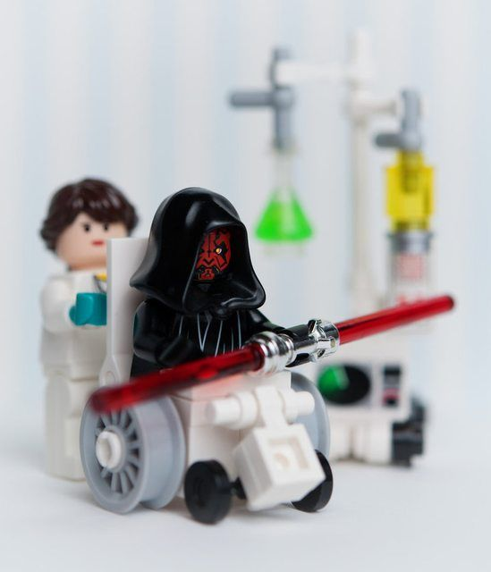 LEGO Star Wars Darth Maul dealing with his injuries