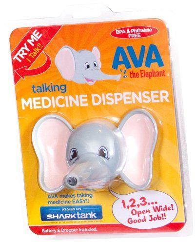 Ava the Elephant Talking Children's Medicine Dispenser   Ava the Elephant is the only talking medicine dispenser, seen on shark tank. Ava helps administer the entire medicine dosage on the Read  more http://shopkids.ca/ava-the-elephant-talking-childrens-medicine-dispenser/