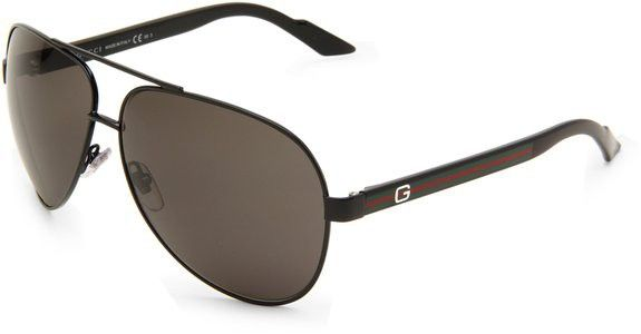 Gafas de sol Gucci Aviador Marco Negro Brillante / Lente Gris 1951/S  | Antes: $856,000.00, HOY: $489,000.00