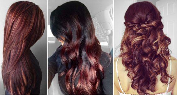 Модные цвета волос Мерло
