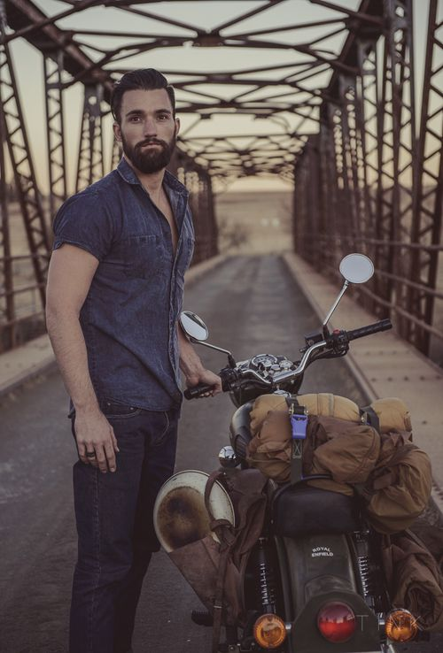 Men's Fashion. TINK Photography. Sergeant Pepper Clothing. S.P.C.C. Motorbike