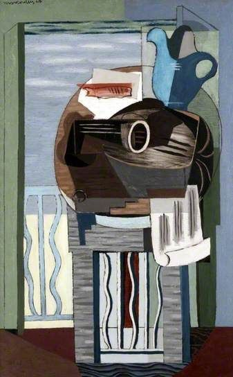 Still Life in front of a Balcony, Louis Marcoussis