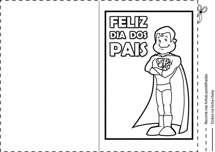 Alguns Modelos de Cartões para o Dia dos Pais prontos para impressão e corte para dar de lembrança no Dia dos Pais.