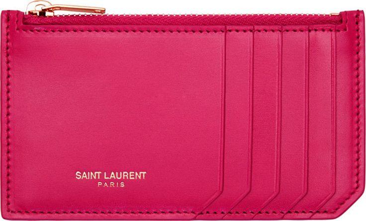 Beige Quilted Monogram Card Holder | Card Holders, Saint Laurent ...