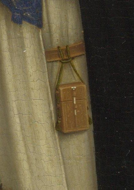 (probably the workshop of) Rogier van der Weyden, about 1465, Pietà, detail of wax tablet etui