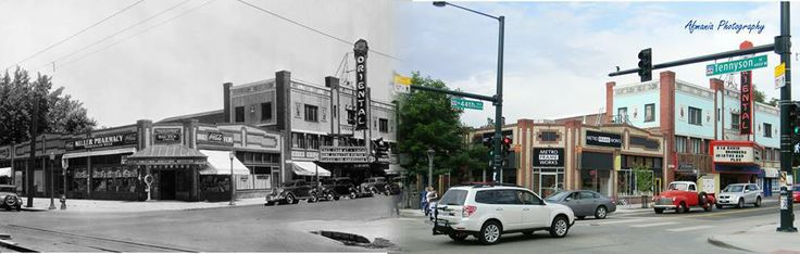 Oriental Theater on 44th just off of Tennyson. These two photos are from 1936 and 2013. If you have any good memories of the Oriental, Please share them.