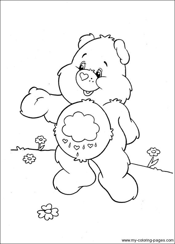 coloring pages of grumpy bear - photo#7