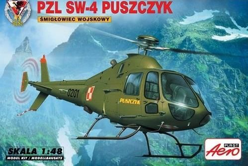 PZL SW-4 Puszczyk. Aeroplast, 1/48, initial release 2012, No.90033. Price: Not Sold. Decals: 1x (Polish Air Force, 0201/660201, Deblin, November 2006).