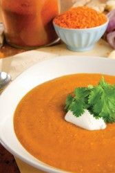 Rajská polévka s červenou čočkou