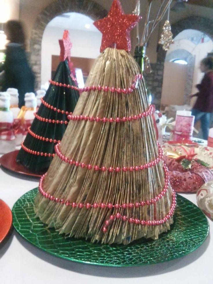 Decorative Christmas Tree made from newspapers - Διακοσμητικό Χριστουγεννιάτικο Δέντρο από Εφημερίδες