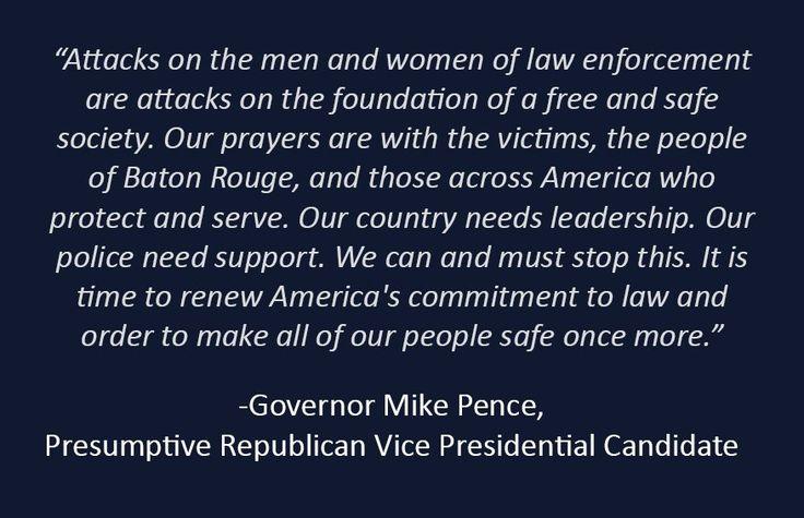 Mike Pence (@mike_pence) | #Bluelivesmatter #AllLivesMatter #MakeAmericaSafeAgain Vote Trump Pence 2016