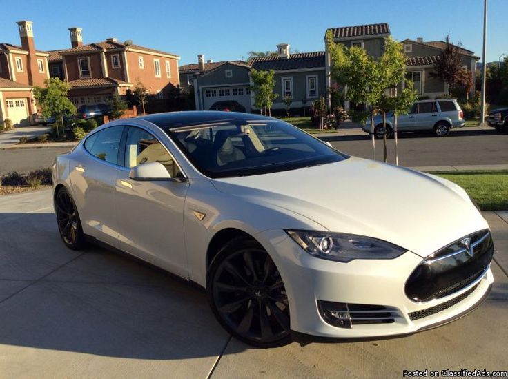 White Tesla S 70 Plus Beautiful 2013 Tesla Model S P85
