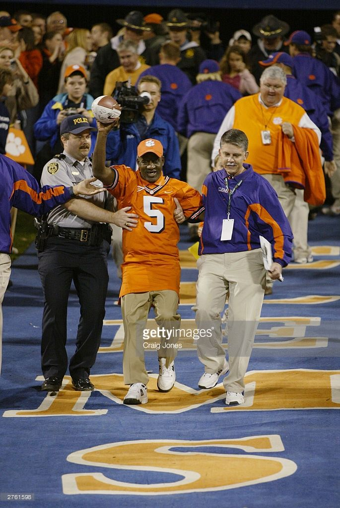 James Robert 'Radio' Kennedy enters the stadium before the start of the Florida State Seminoles v the Clemson Tigers game on November 8, 2003 at Memorial Stadium in Clemson, South Carolina. Clemson University defeated Florida State University 26-10.