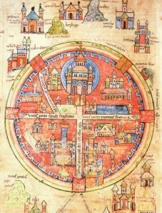 Medieval map of Jerusalem. Love it! ;)