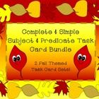 I have bundled together my two fall themed simple and complete subject and predicate task card products! It is a total of 24 task cards to use with...