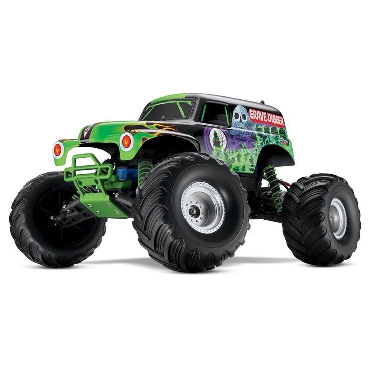 Traxxas 3604A Grave Digger 2.4Ghz Electric 2WD 1/10 Scale RC Monster Truck