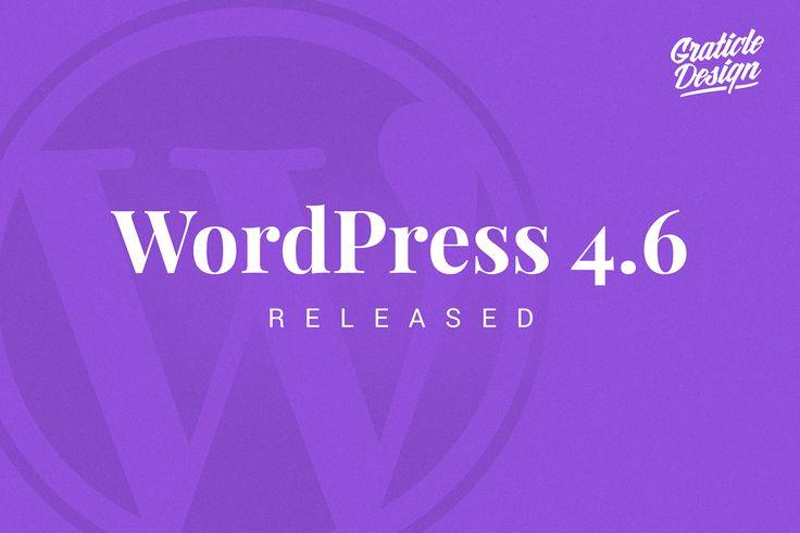 "WordPress 4.6, ""Pepper"" was released on August 16, 2016 (named in honor of jazz…"