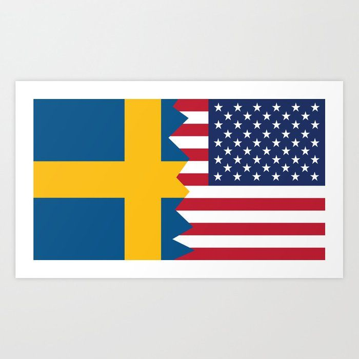 Pin By Jenny Burton On Swedish And So Proud In 2020 American Flag Art Flag Art Swedish American