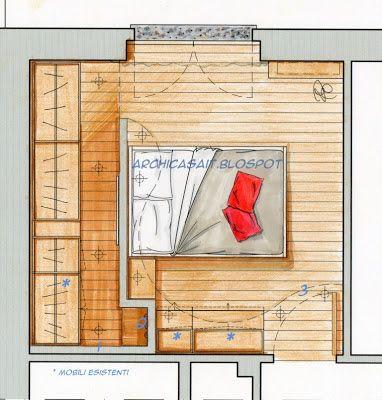 ArchiCasaUn esempio: la camera di Stella by arch.Alessandra Castiglioni