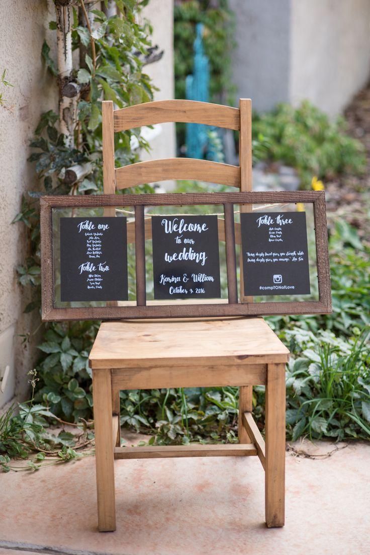 Chalkboard wedding signs (Maura Jane Photography)