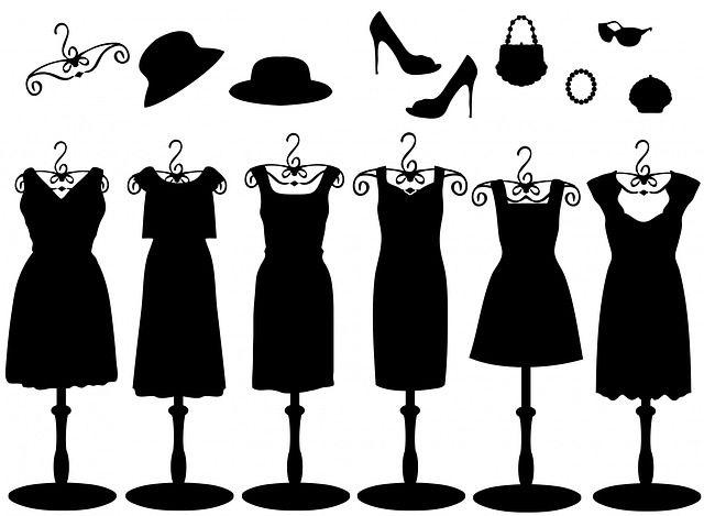 Dress, Dresses, Accessories, Black, Clipart, Hat, Hats